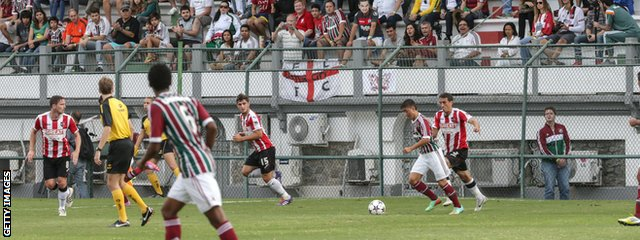 Exeter played Fluminense's Under 23's at the historic Stade de Llanjeiras