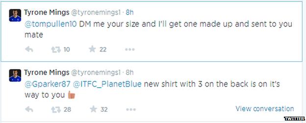 Tyrone Mings' Twitter replies