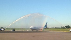 First China flight lands in Birmingham