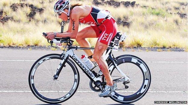 Chrissie Wellington on stolen bike