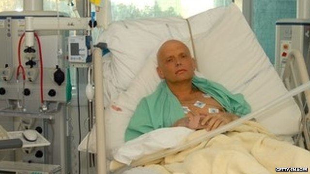 Alexander Litvinenko in hospital shortly before his death