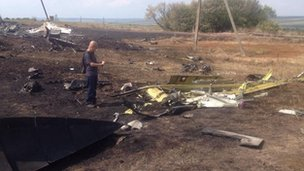 Malaysian expert at the MH17 crash site