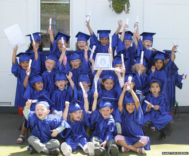 Graduation day at North Fleet Nursery in Kent