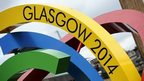 Glasgow 2014 logo in George Square