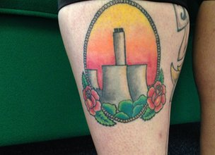 Kelly Green's Didcot tattoo