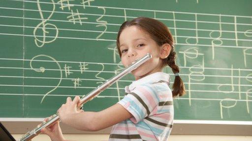 girl on flute
