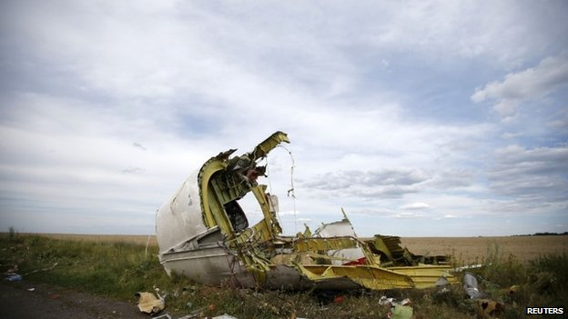 Malaysia Airlines MH17 crash site in Eastern Ukraine