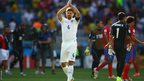 Steven Gerrard acknowledges the fans after his final England appearance, against Costa Rica in the 2014 Fifa World Cup