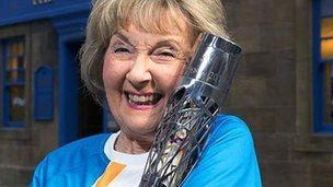River City's Molly with the baton