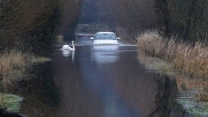 The plans aim to prevent roads on the Somerset Levels becoming closed to traffic during floods
