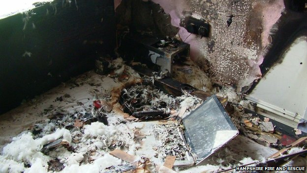 'Wrong' charger cause of explosion in Hampshire home