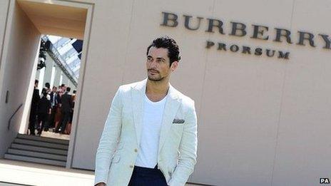 David Gandy at the Burberry Prorsum fashion show