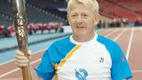 Scotland manager Gordon Strachan carried the Queen's Baton around Hampden
