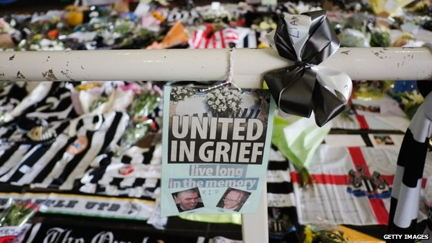 Tribute to Newcastle United fans who died in the MH17 crash (22 July 2014)