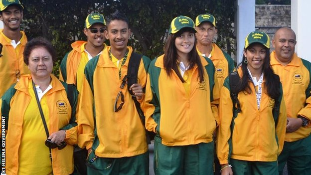 The St Helena Commonwealth Games team
