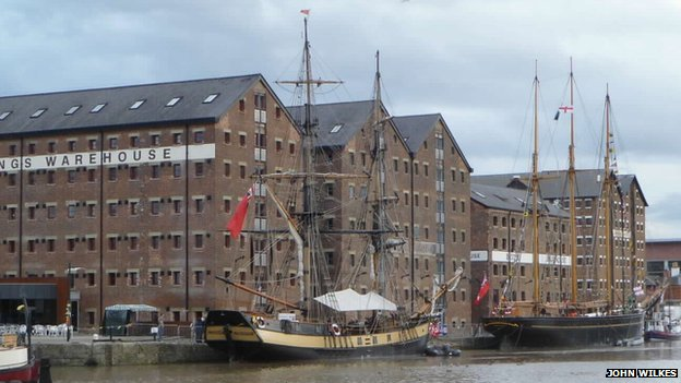 Tall ships in Gloucester Docks