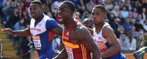 Dwain Chambers wins at British Championships