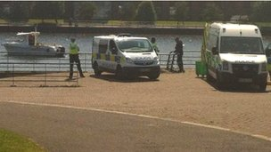 Police at the River Tees