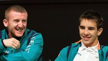 Northern Ireland boxers Paddy Barnes and Michael Conlan