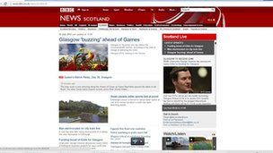 BBC News website screenshot