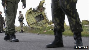 Crash site in Ukraine. 22 July 2014