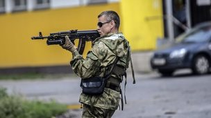 Pro-Russian rebel fighter in Ukraine, 22 Jul 14