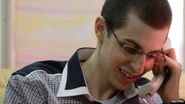 Gilad Shalit pictured after his release in October 2011