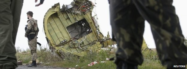 Crash site in Ukraine