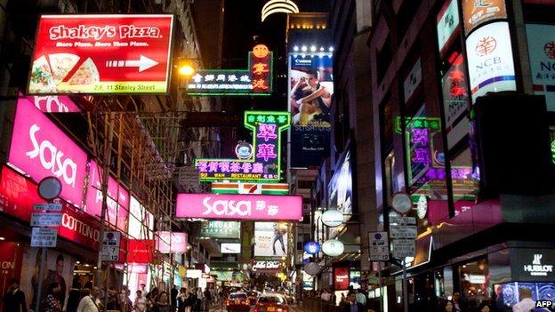 Central Hong Kong streetscene