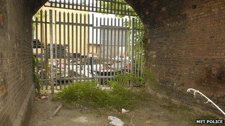Archway where Kester David was found