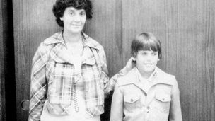 Jason Wolfe (right) and his mother