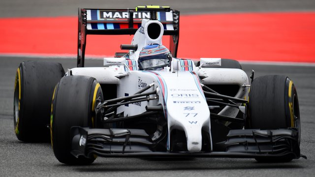 Valtteri Bottas of Finland and Williams drives during the German Grand Prix