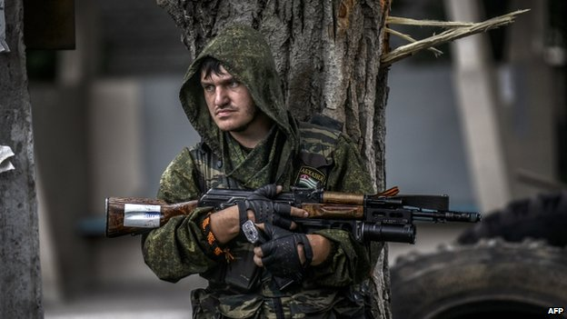 Pro-Russia rebel in Donetsk (22 July 2014)