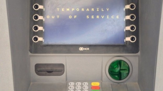 An out of service ATM in Tripoli, Libya