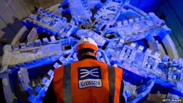 A Crossrail drill