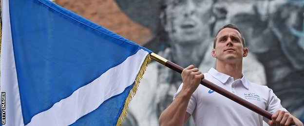 Judo player Euan Burton will carry the Scottish flag at the opening ceremony
