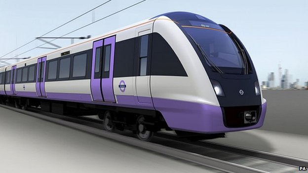 An artist's impression of how a Crossrail train may look