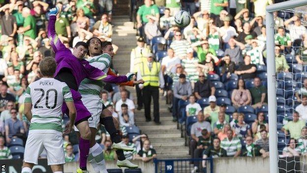 Virgil van Dijk scores for Celtic
