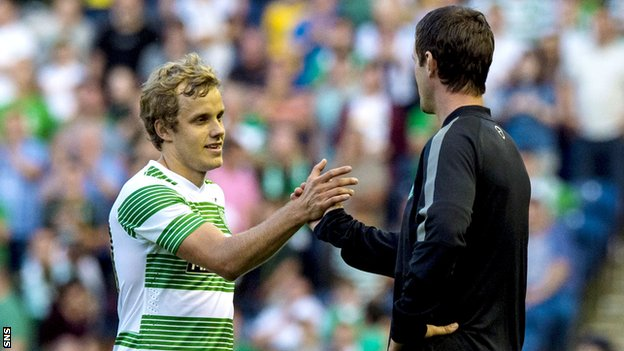 Ronny Deila hails Teemu Pukki during Celtic's 4-0 win over KR Reykjavic