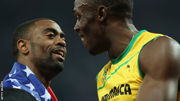Tyson Gay and Usain Bolt