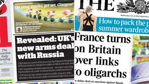 Composite image of i and Times front pages