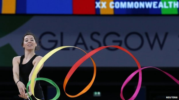 Many athletes reached Glasgow ahead of the opening ceremony to start their practice sessions