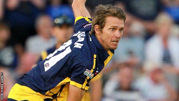 Glamorgan bowler Michael Hogan
