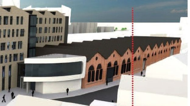 Artist impression of how the sheds might be developed