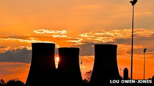 Didcot towers sunset