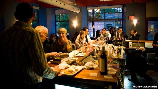 The bar at Beckta in Ottawa
