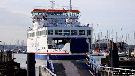 Wightlink ferry in Lymington