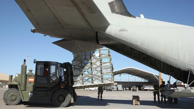 Isaf has already flown over 1500 ballot boxes from Western Herat province to the capital