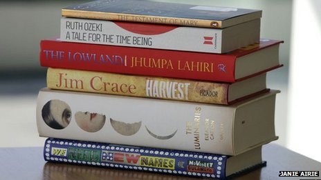 Pile of shortlisted novels