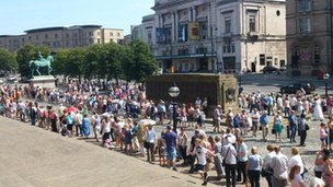 Queues outside St George's Hall